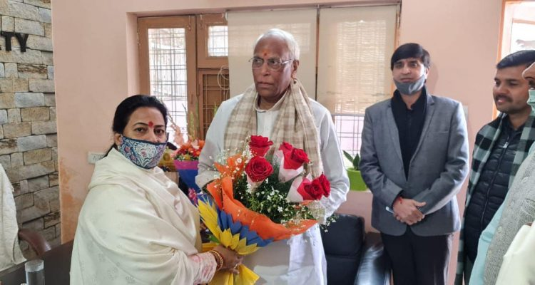 हरियाणा भाजपा संगठन महामंत्री माननीय श्री रविंद्र राजू जी गुरुग्राम जिला कार्यालय पहुँचे