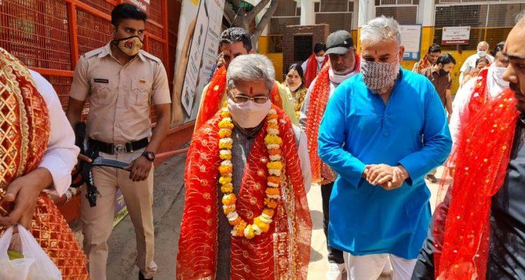 राज्यसभा सांसद श्री दुष्यंत कुमार गौतम का आज माता शीतला देवी मंदिर पर  हुआआगमन