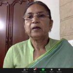 वर्चुअल बैठक में श्रीमती संतोष यादव जी ने श्यामा प्रसाद मुखर्जी जी के बारे में अपने विचार व्यक्त किए
