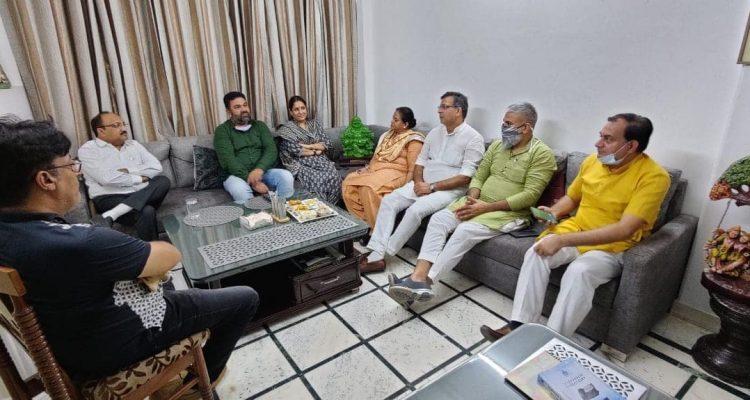 गुरुग्राम के विधायक श्री सुधीर सिंगला जी के साथ चाय पर चर्चा