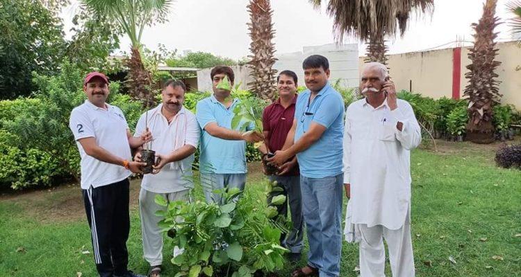 प्रधानमंत्री श्री नरेंद्र मोदी जी के जन्मदिन के अवसर पर किसान मोर्चा ने मंडल अध्यक्षों को पौधे वितरण किये।