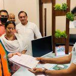 नगर निगम वार्ड 34 के उपचुनाव के लिए भाजपा प्रत्याशी श्रीमती रमा रानी राठी ने नामांकन पत्र दाखिल किया