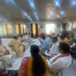 प्रदेश संगठन मंत्री श्री रविन्द्र राजू जी ने बादशाहपुर विधानसभा के प्रमुख कार्यकर्ताओं की बैठक ली।